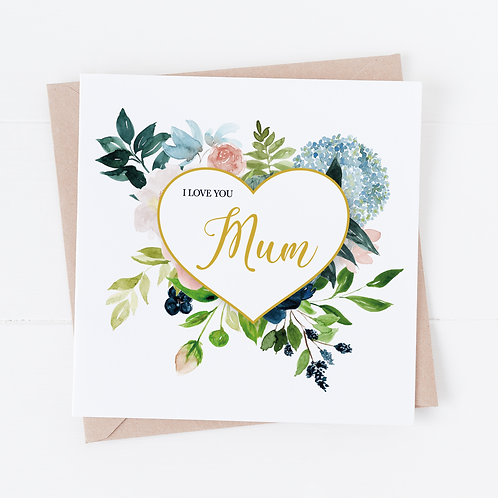 Floral Heart - Mother's Day Card