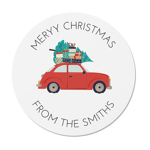 24 Personalised Christmas Car Merry Christmas Stickers