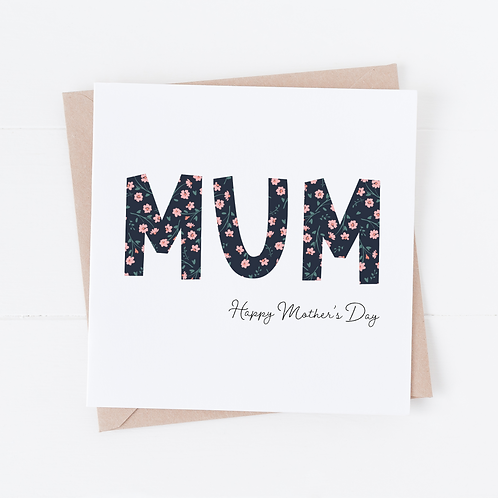 Floral Mum Mother's Day Card