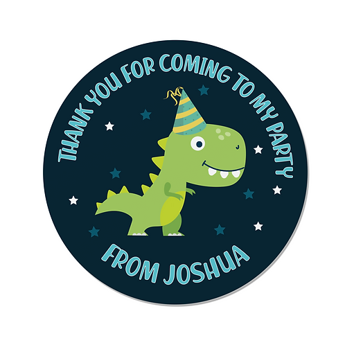PERSONALISED Dinosaur Happy Birthday Stickers