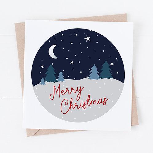 Starry Night Christmas Cards