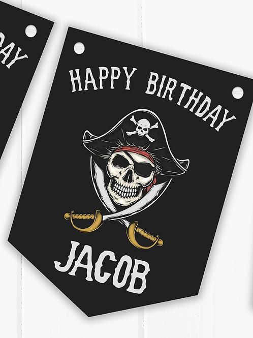 PERSONALISED Pirate Happy Birthday Bunting