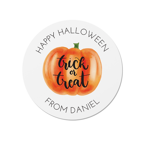 24 Personalised Halloween Trick or Treat Stickers