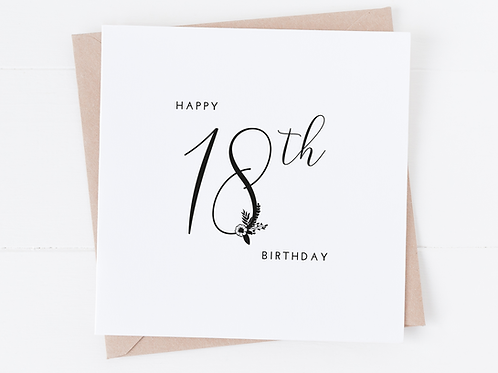 copy of Floral Age Birthday Card - Any Age