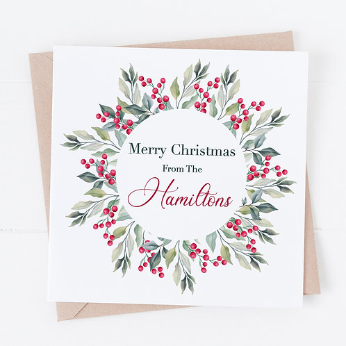 Personalised Floral Christmas Cards