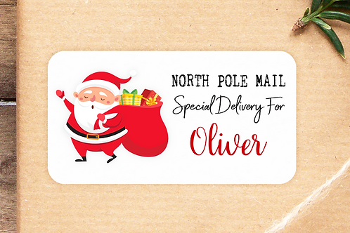 Personalised Christmas Special Delivery Stickers