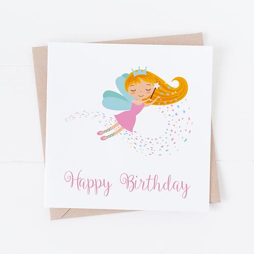Cute Fairy Birthday Card
