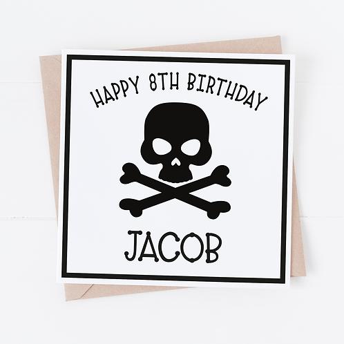 PERSONALISED Pirate Birthday Card