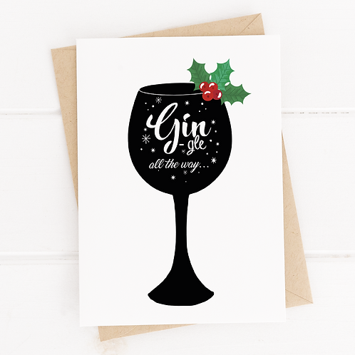 Gin-gle All The Way Christmas Cards