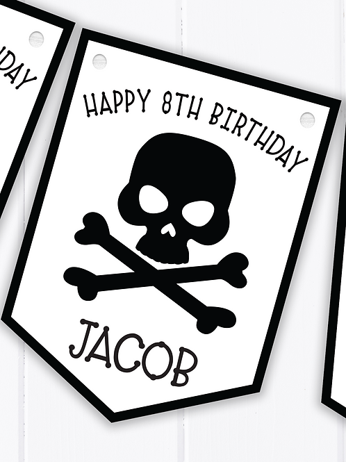 PERSONALISED Pirate Happy Birthday Bunting