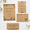 Thumbnail: Rustic Kraft Floral Wedding Invitation Suite