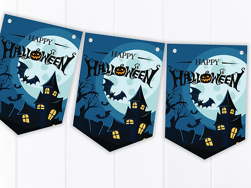 Haunted House Halloween Party Bunting