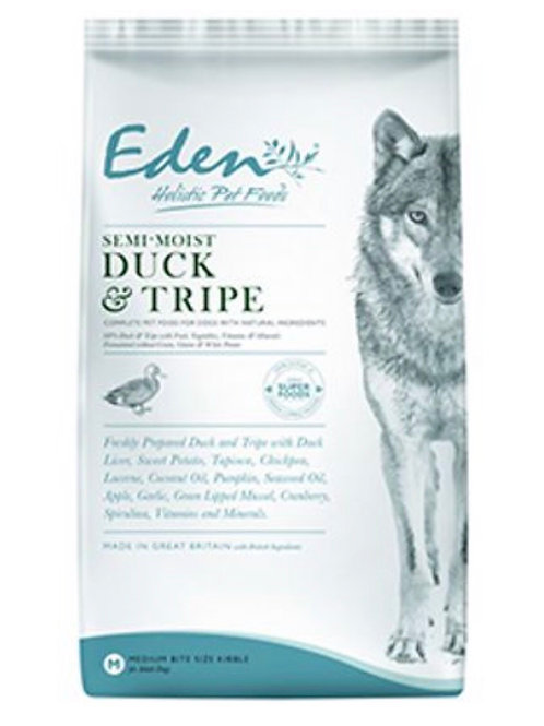 Eden pet food, duck & tripe semi-moist (medium kibble)