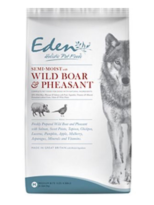 Eden pet food , Wild boar & pheasant semi-moist (medium kibble)