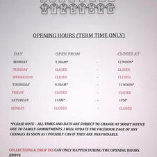 Opening Hours (Term Time)