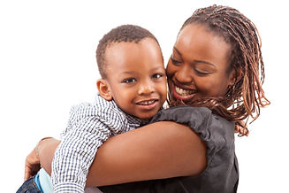 Young afro american mother with her son
