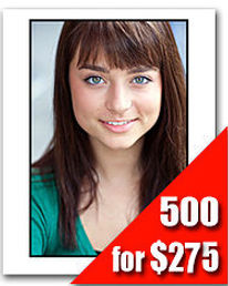 500 Headshot Prints for $225
