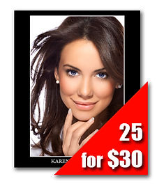 25 Headshot Prints for $30