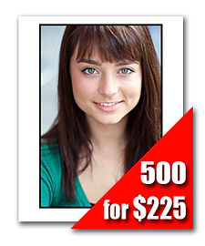 500 Headshot Prints for $225