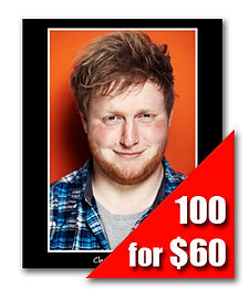 100 Headshot Prints for $60