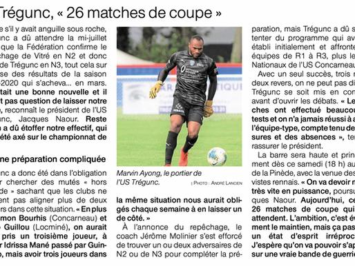 Article Ouest France du 28 Août 2021