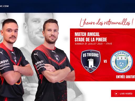 1er match amical US TREGUNC - FC PLOEMEUR