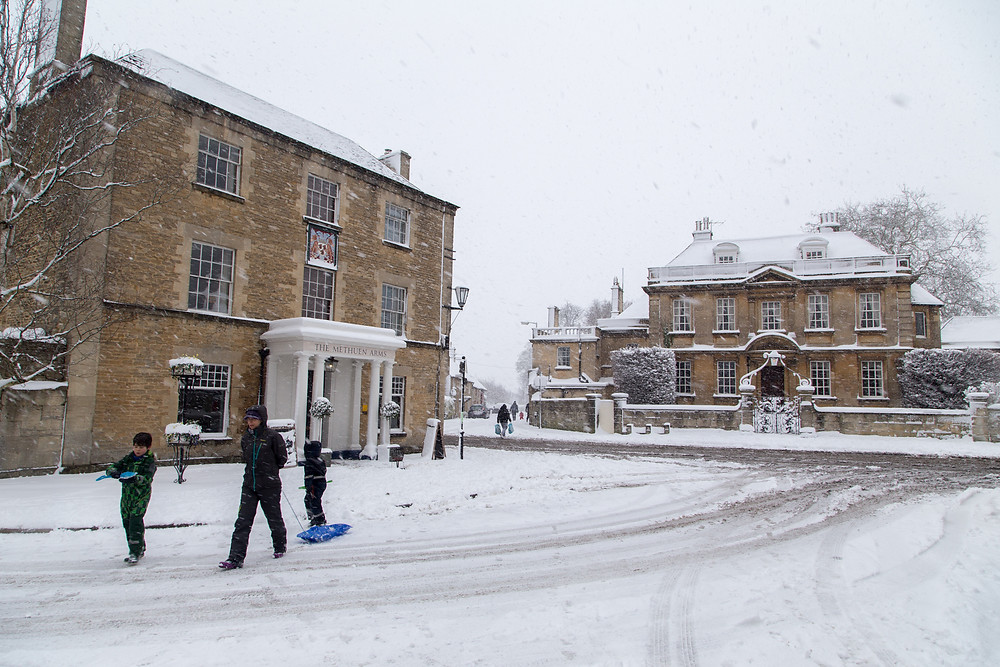 The only way to get around this winter in Corsham, Wiltshire