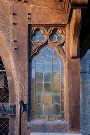 Owlpen - Holy Cross Church window detail