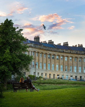12 The Royal Crescent in Spring, Bath, UK