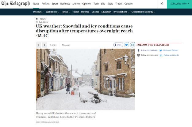 The Telegraph - Heavy Snow in Corsham -