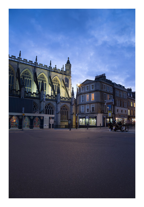 View to Abbey & LCE Shop - Bath - Octobe