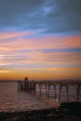 Clevedon Pier Sunset, Somerset, UK