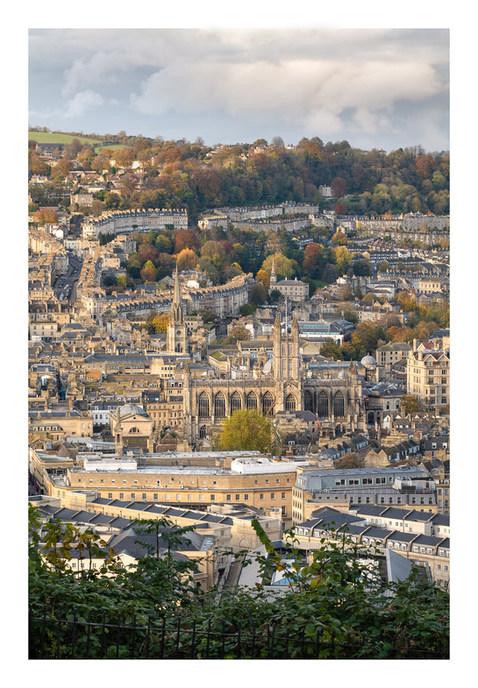 Bath Cityscape View Autumn - Hi Res - Ba