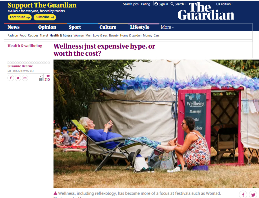 The Guardian - Wellness Article