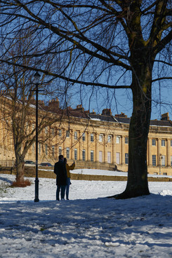 35 The Royal Crescent in Winter, Bath UK