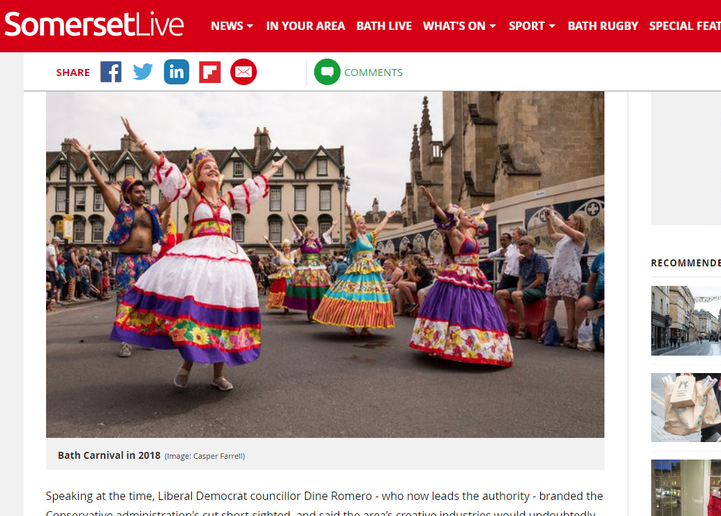 Somerset Live - Bath Carnival Article