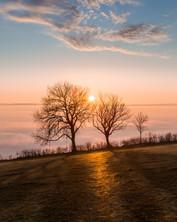 Deer Leap Cloud Inversion, Somerset, UK