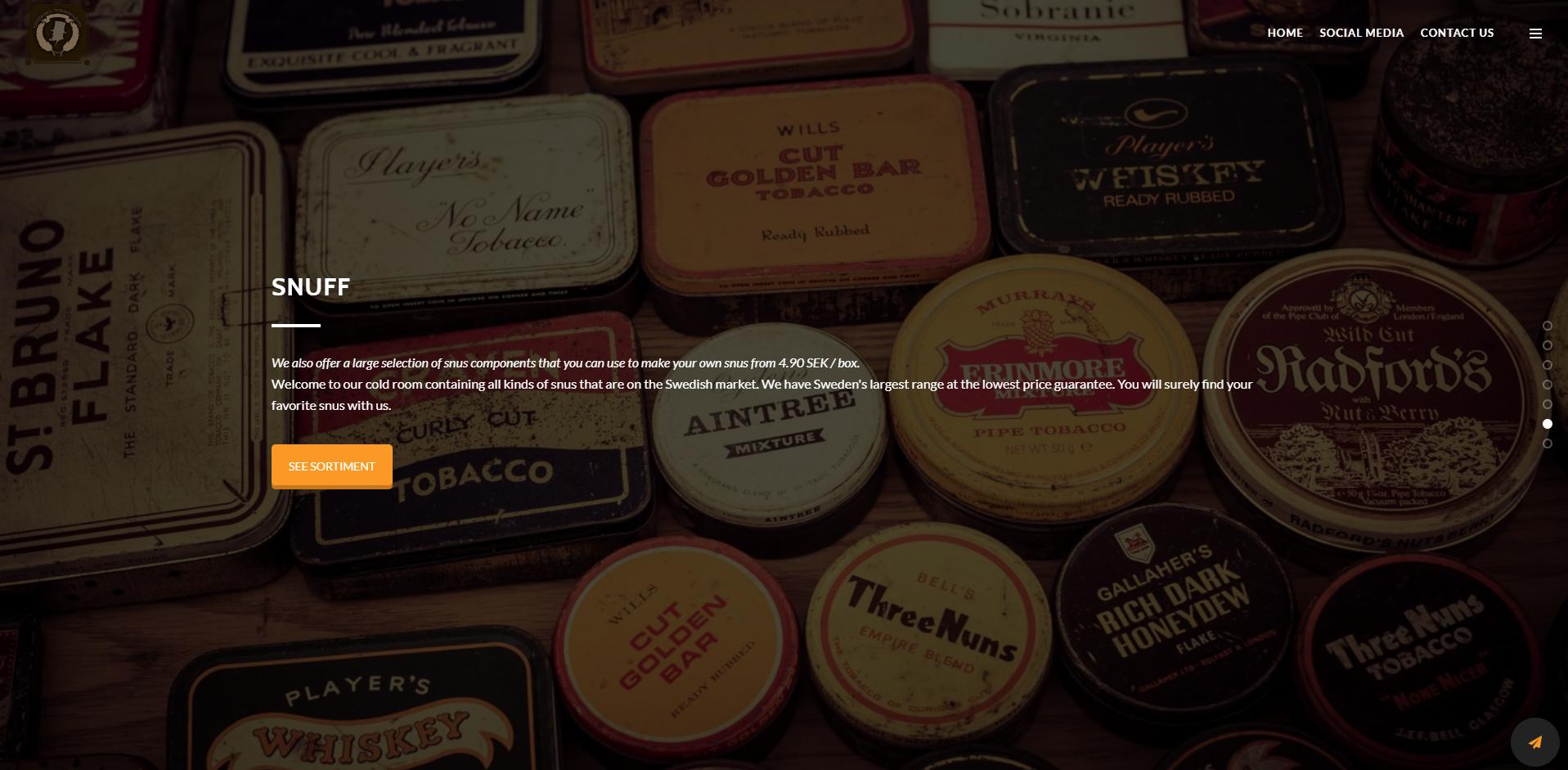 Gothenburg Tobacco - Website Design