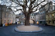 32 Abbey Green in Winter, Bath, UK