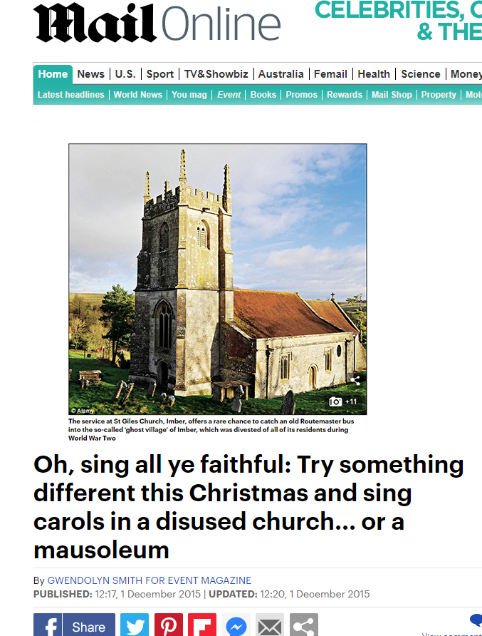Mail Online - Imber Christmas Feature
