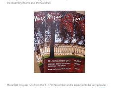 Mozartfest Bath - Leaflet Design