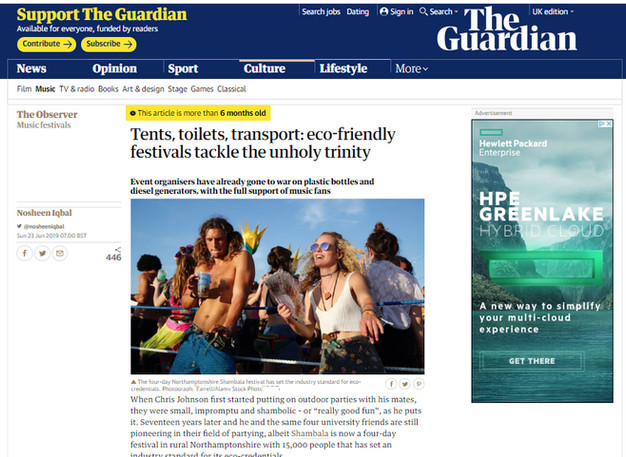 The Guardian - Eco Friendly UK Festivals