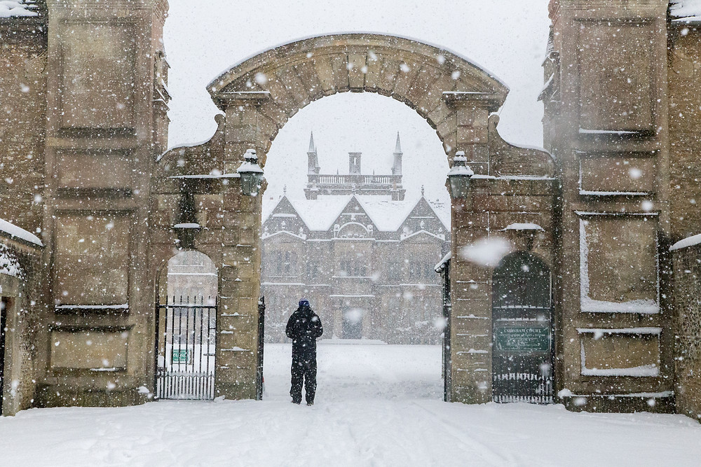 Corsham Court under a blanket of snow