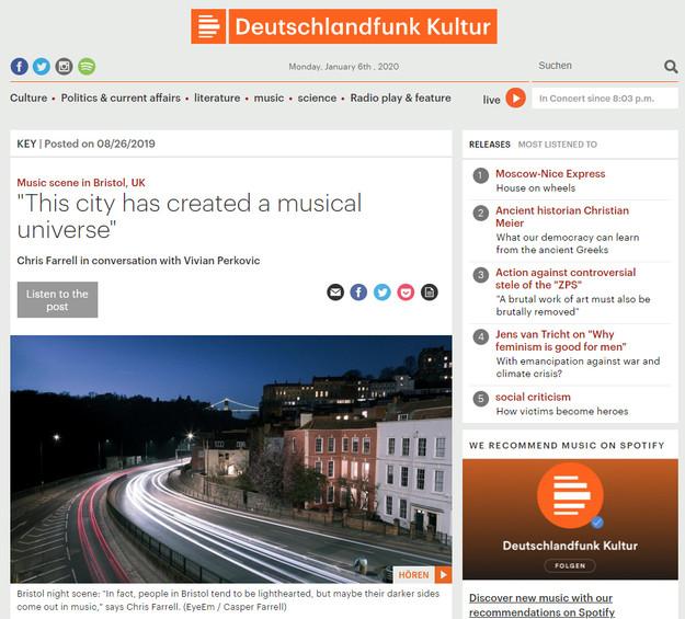 Deutschlandfunk Kultur - Bristol Music S