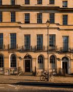 05 Golden Townhouses, Bath city street view, Bath, UK