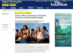 The Guardian - Eco Friendly UK Festivals
