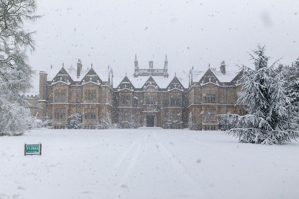 The magnificent Corsham Court in Winter