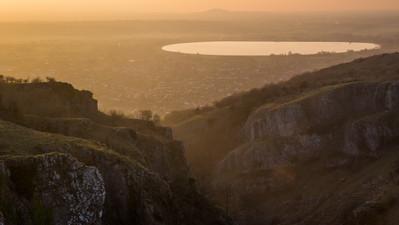 Cheddar Gorge Sunset, Somerset UK