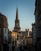 31 St Michaels Church & Bath Abbey, Broad Street Sunset, Bath, UK