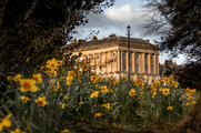 19 The Royal Crescent in Spring, Bath UK